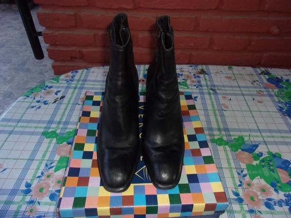 Botineta Bota Corta Cuero Taco Fino Mujer Zapato Febo 39