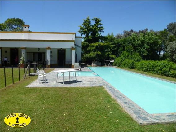 2515mj- Alquiler Casa Colonial Con Importante Parque Y Pile