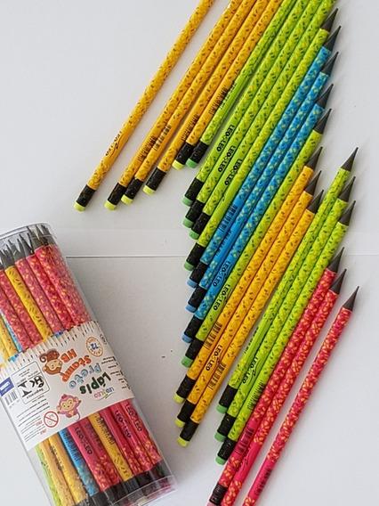Lapis De Escrever Com Borracha Decorado/ Kit Com 72 Lapis