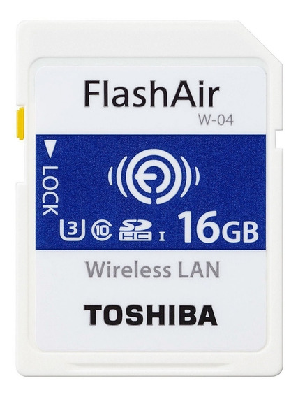 Cartão Sd Toshiba Flashair Wifi 16gb W4 4k Pronta Entrega