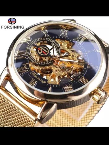 Reloj Forsining Transparen Case