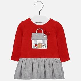 Vestido Chic Mayoral Bebé Niña Rojo Est.2912 36 M/ 3 Años A