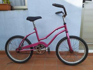 Bicicleta Playera Dama Rosa Rodado 20