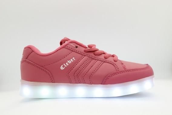 Zapatillas Luces Led Color Coral Recargables Envio Gratis