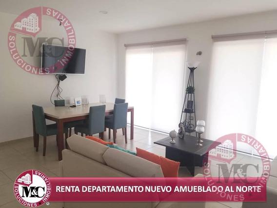 M&c Soluciones Inmobiliarias Renta Departamento Nuevo Amueblado Norte