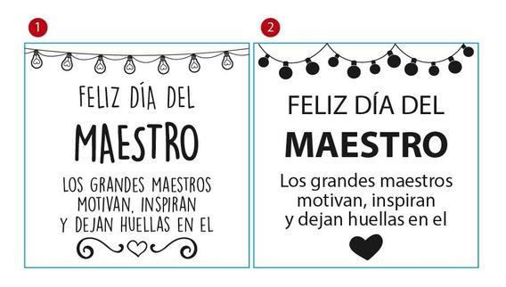 Frases Dia Del Maestro Vinilos Decorativos En Mercado
