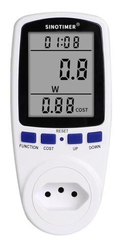 Medidor De Consumo Casa 110v 220v Bivolt Wattimetro Plug Br