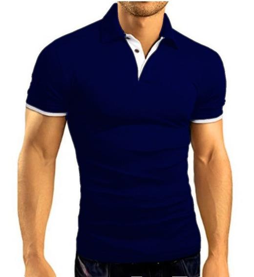 Camisa Camiseta Polo Masculina Slim Fit Alta Qualidade Luxo