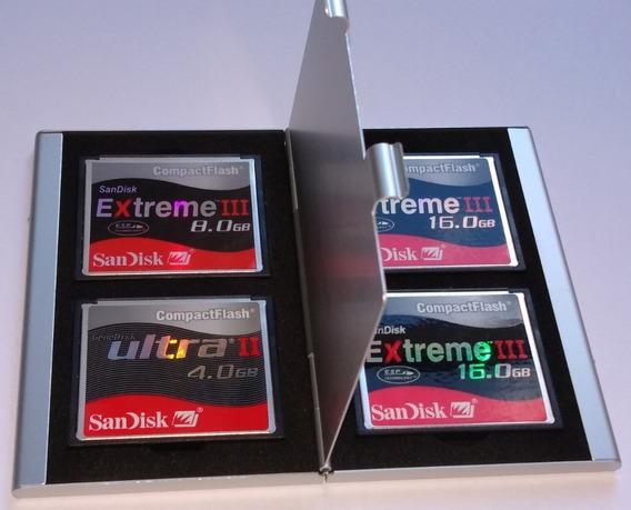 Estojo Case Alumínio Porta Cartão De Memória Compact Flash