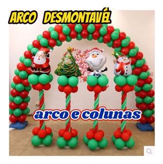 Arco Desmontavel 1+2 Base Plastica Decoração Balões+brindes