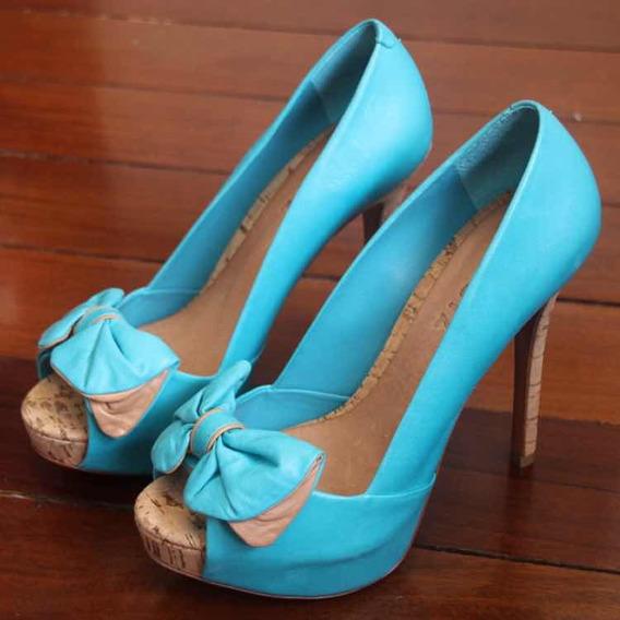 Sapato Schutz Meia-pata Azul 37 Novo