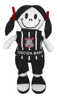 Boneca C/ Camisa Do Corinthians Torcida Baby Oficial + Nf