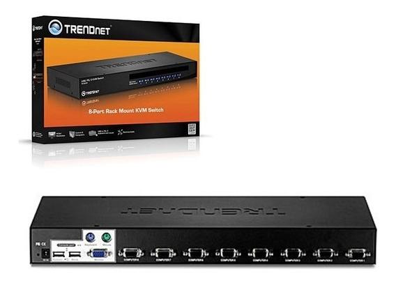 Switch Kvm 8 Puertos Trendnet Tk-803r Usb Vga Rackeable