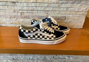 Tênis Vans Old Skool Checkerboard Nº37 Importado Londres