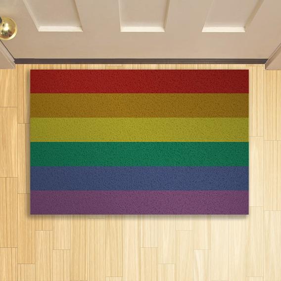 Tapete Capacho Criativo Rainbow Bandeira Lgbt