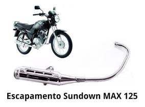Escapamento Sundown C/ Catalizador 032esc0014 Prata Max 125