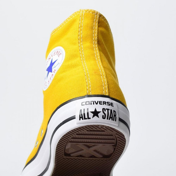 Tênis Converse All Star Amarelo Ct Cano Alto