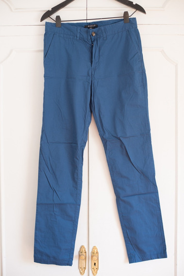 Pantalon Forever 21 Hombre Azul Algodon Talle 29us