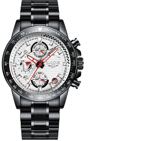 Relógio Lige Masculino Original Lg9837 Preto Todo Funcional