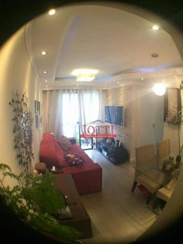 Apartamento Com 2 Dormitórios E 2 Vagas De Garagem À Venda, 49 M² Por R$ 280.000 - Vila Rio De Janeiro - Guarulhos/sp - Ap0579