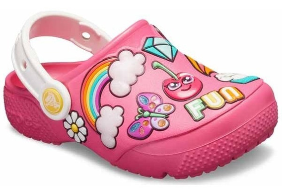 Zapato Crocs Infantil Fun Lab Parches Coloridos