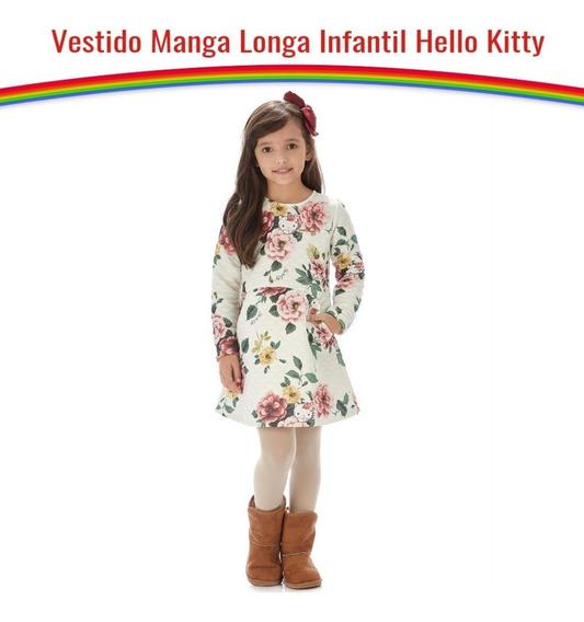Vestido Manga Longa Infantil Em Moletom Matelacê