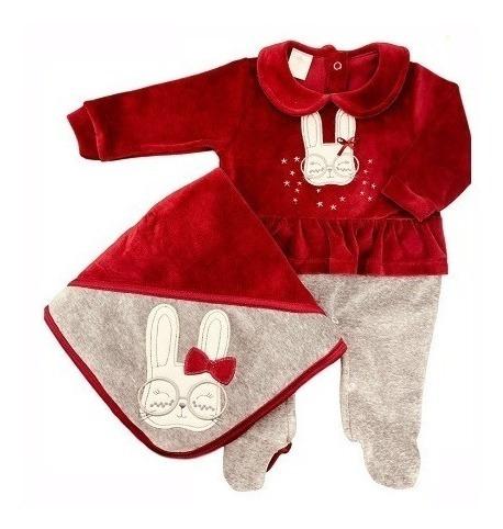Saída De Maternidade Plush Presente De Anjo Coelha Cód: 85