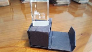 Souvenir Ornamento Cubo Translúcido Roma C/caja
