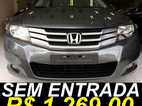 Honda City Ex 1.5 Único Dono 2012 Cinza