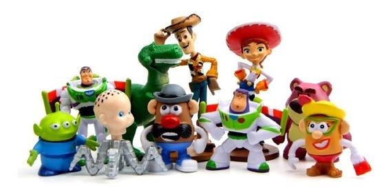 Coleção 10 Bonecos Miniaturas - Toy Story 3 - Woody E Buzz