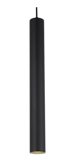 Pendente Tubo Tubeto Sala Quarto 4cm X 40cm Preto Inl44
