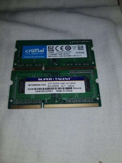 Memorias Ram 2gb Y 1gb 1600 Ddr3