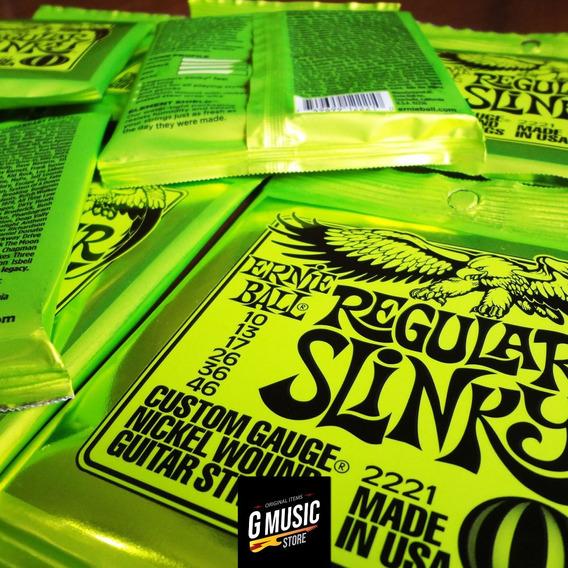 Kit 03 Sets Cordas Guitarra Ernieball Regular Slinky 0.10