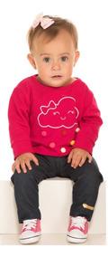 Conjunto Baby 2514 Casaco Em Molecotton E Calça Legging