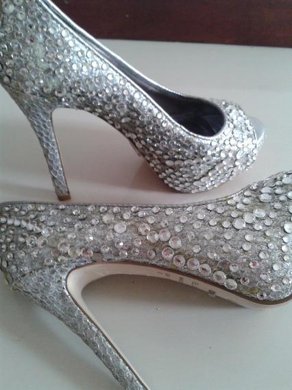 Sapato Salto Luxo Cristal, Marca Ellus