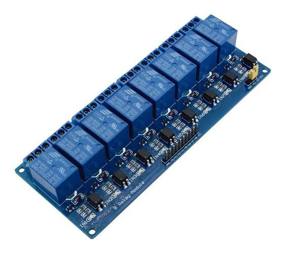 Modulo Relay Rele 8 Canales 5v 10a 8ch Arduino Optoacoplado.