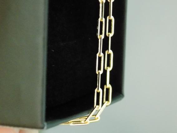 Corrente Masculino Cartier Banhado Ouro 18k Garantia 2mm Top