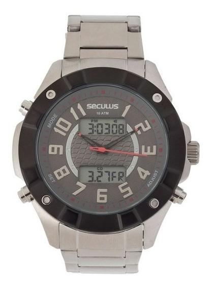 Relógio Masculino Seculus Original Com Garantia E Nfe