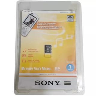 Cartão De Memória Sony Original 1gb M2 Sem Adaptador