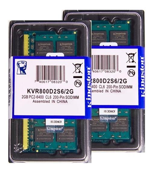 Memória Kingston Ddr2 2gb 800 Mhz Notebook 16 Chips 1.8v
