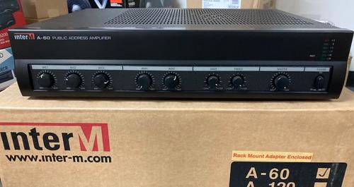 Amplificador Mezclador Comercial De 60 Vatios (a-60) Inter-m