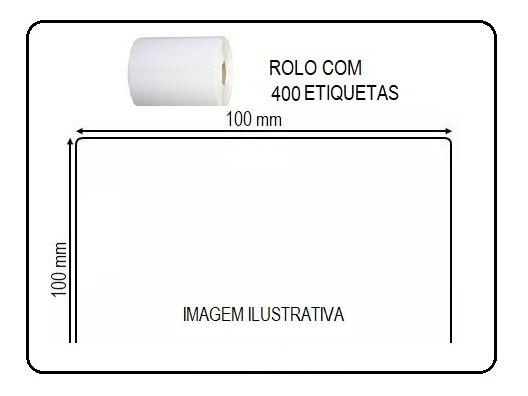 Etiquetas Adesivas 10x10cm Impressoras Argox Elgin Zebra