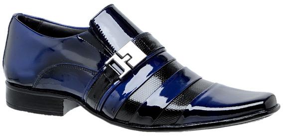 Sapato Social Masculino Verniz Bico Fino Estilo Italino 0232