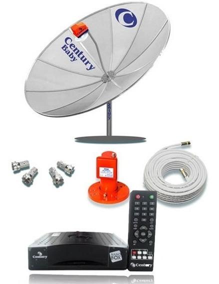 Antena Parabolica Century Recep + Lnbf + Cabo