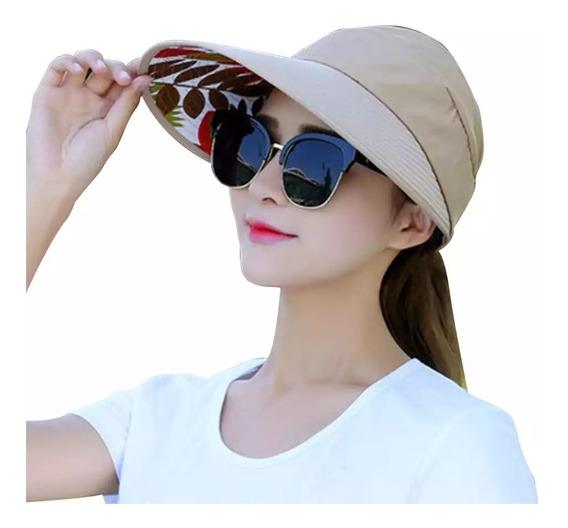 Sombrero Dama Playa Protección Solar Piel Visera