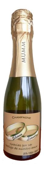 Souvenir Champagne Mumm 187 Ml Personalizado 10 Unidades