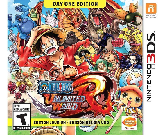 One Piece Unlimited World Red - 3ds - Midia Fisica! Japonês!