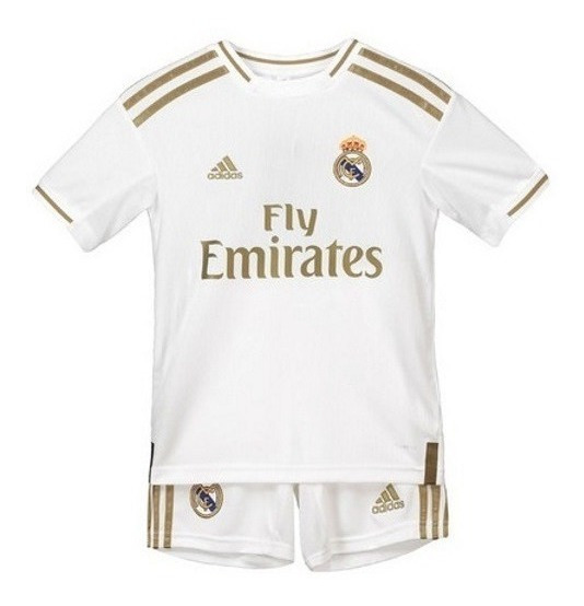 Camisa Real Madrid + Short Infantil 2019 Pronta Entrega