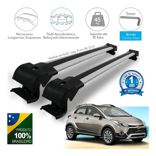 Travessa Teto Hyundai Hb20x Rack Bagageiro Maleiro