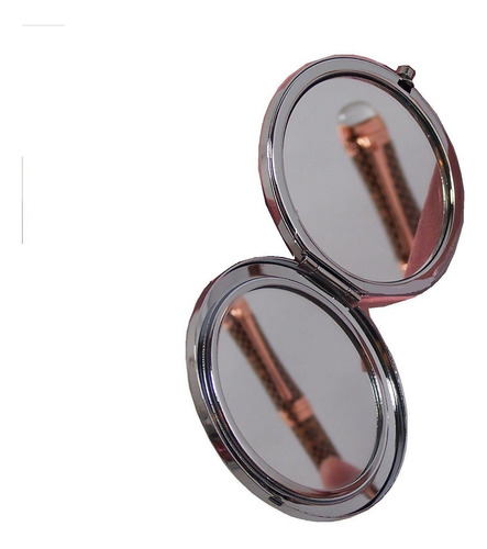 Espejo Portatil Maquillaje Bolso Doble Aumento 7 Cm Diametro